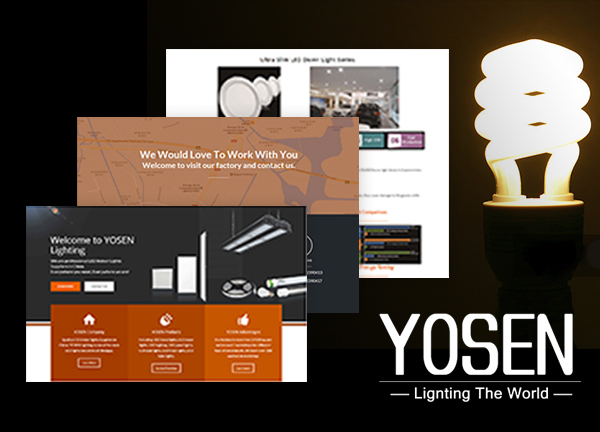 WordPress外贸B2B商城网站案例 – LED灯 YOSEN Lighting