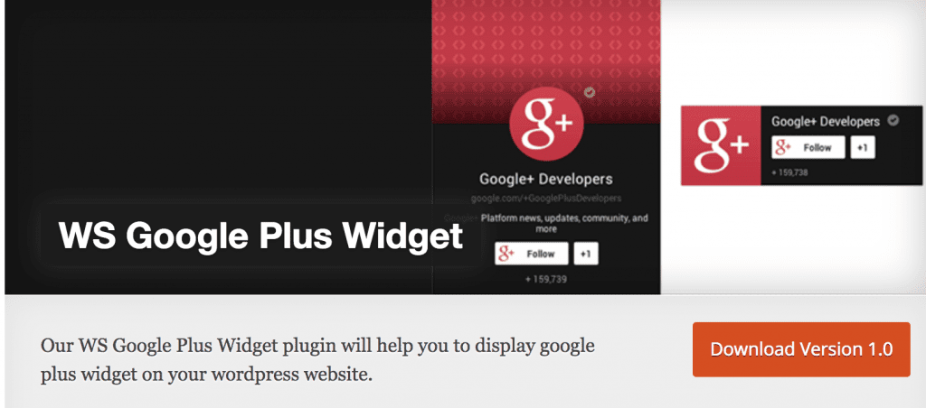 google plus widght