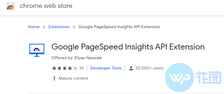 PageSpeed Insights 网速检测