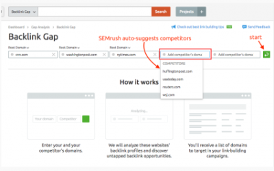 SEMrush- Backlink Gap反向链接差异